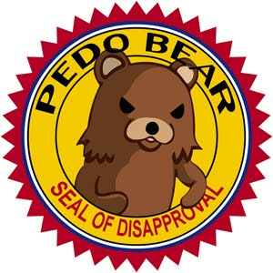 pedobear - seal of disapproval